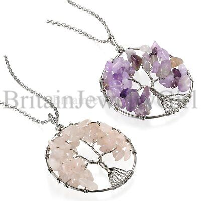Tree Of Life Symbols (Crystal Accent Tree of Life Symbol Family Pendant Stainless Steel Necklace 23