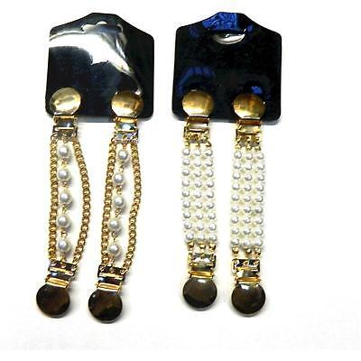 Blusenraffer 2 Paar Ärmelhalter Set C gold PORTOFREI Accessoire Kleidung