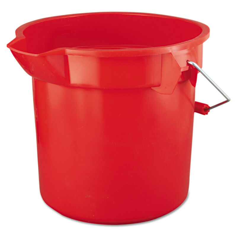 Rubbermaid Commercial BRUTE Round Utility Pail 14qt Red 2614RED
