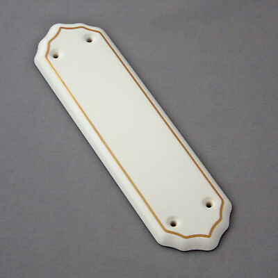 White & Gold Ceramic Finger Plate