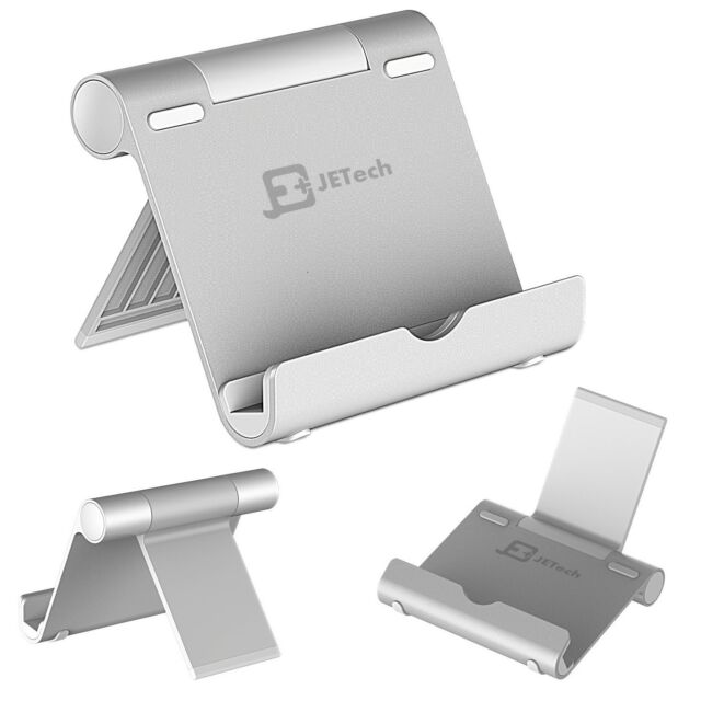 Comfy Tablet Holder Portable Stand iPad Phones Aluminum Body Multi Angle Durable