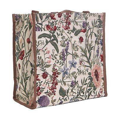 (Signare Womens Fashion Tapestry Shopper Bag Shoulder Bag Morning Garden Design)