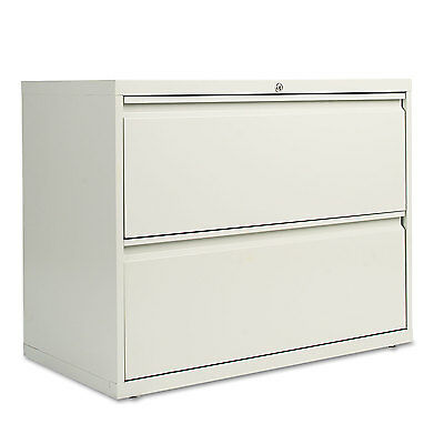 Alera Two-drawer Lateral File Cabinet 36w X 19-14d X 28-38h Light Gray