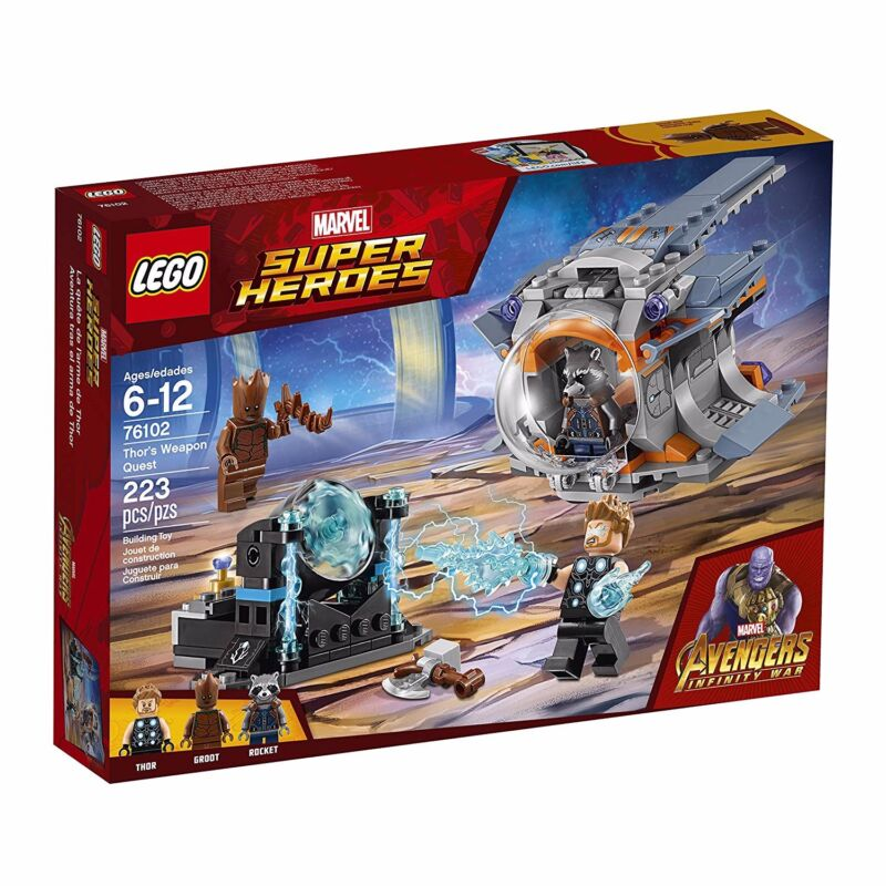 Lego Marvel Super Heroes Avengers Infinity War Thors Weapon Quest Building Kit