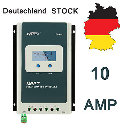 24v Solar Charge Controller (EPEVER TRACER 1210AN MPPT Solar Laderegler charge controller 10A 12V/24V DC 100V)