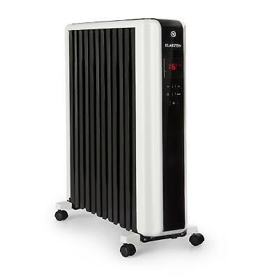 Radiador de aceite Estufa Calefactor Eléctrico 2500W 5-35°C Temporizador Negro