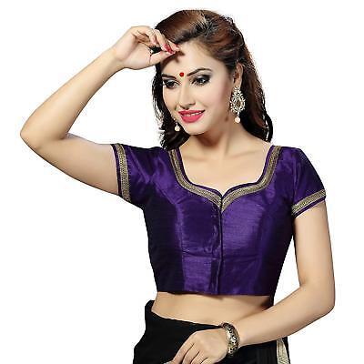 Readymade Ethnic Designer Art Silk Saree Blouse Collection Tops Paksitan Choli Saree Collection