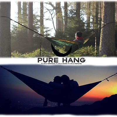 PURE HANG Premium XXL Hamaca Doble de Camping Jardin Playa Exterior Portátil