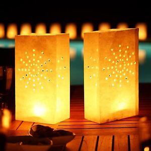 10 x Candle Tealight Bags Paper Light Luminary Lantern Wedding Garden Party BBQ