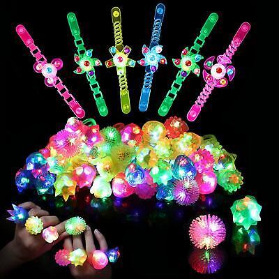 Light Up Rings LED Bracelets Party Favors for Kids Birthday 36pk Prizes Box - Led Light Rings