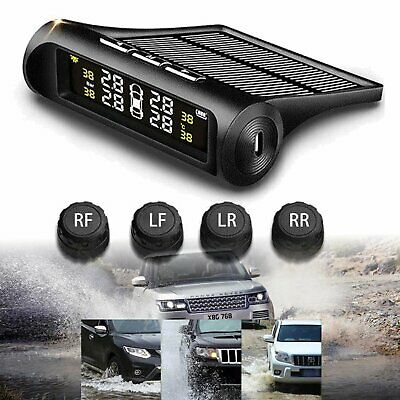 Car Wireless  Tire Pressure Monitor System+4 Sensors LCD Display For