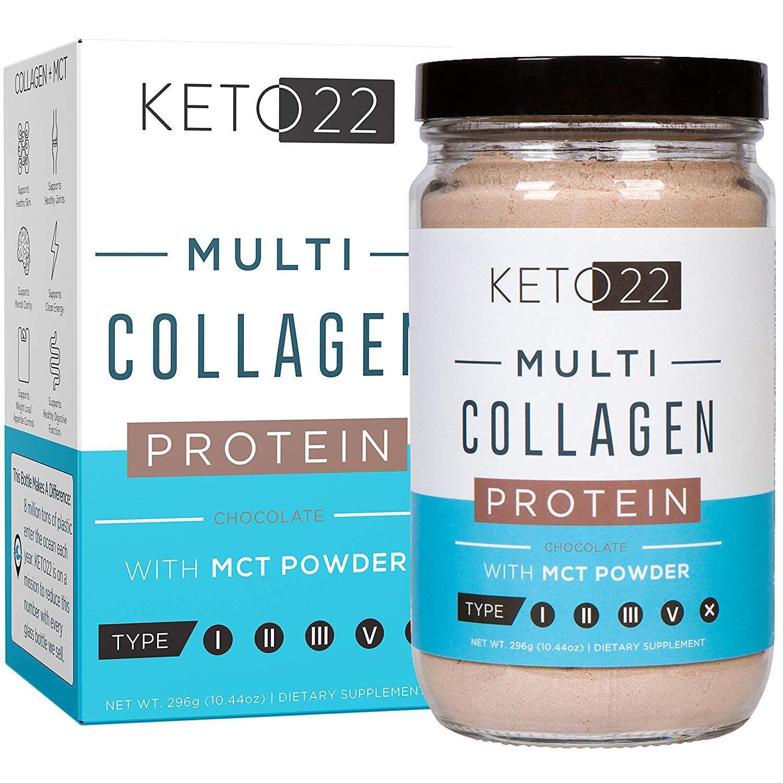 Multi Collagen Protein Chocolate W/ MCT Powder Keto Friendly
