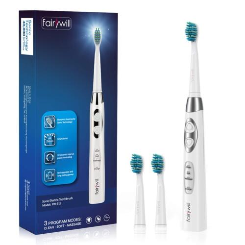sonic electric toothbrush rechargeable clean as dentist
