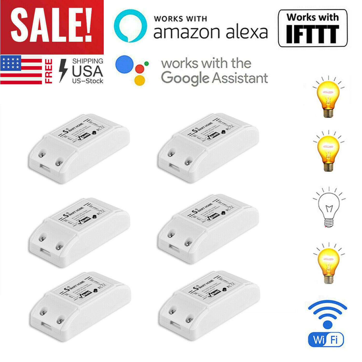 Smart Life WIFI Light Switch Remote For Alexa Google Home IF