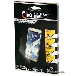 NEW ZAGG InvisibleShield HD Case Friendly Screen Protector Samsung Galaxy Note 2