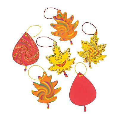 Colorful Magic Color Scratch Fall Leaves. (24 Leaves)