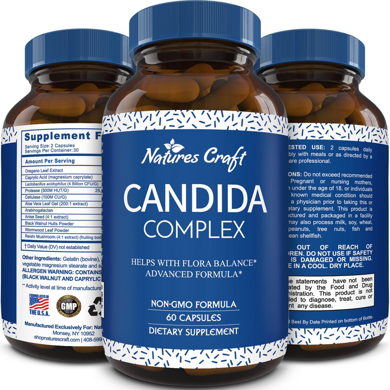 Candida Detox Prebiotic Probiotic Capsules for Digestive Hea