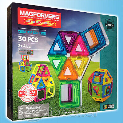 BRAND NEW MAGFORMERS 30-PIECE CREATOR MAGNETIC NEON COLOR CONSTRUCTION -