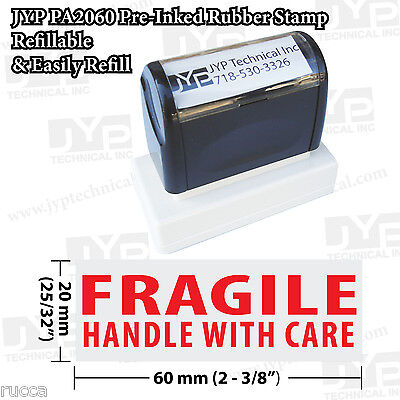 Jyp Pa2060 Pre-inked Rubber Stamp Fragile Handle With Care