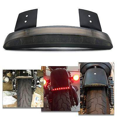 - 12V LED Smoke LENS Motorcycle Brake License Plate Tail Light For Harley Davidson