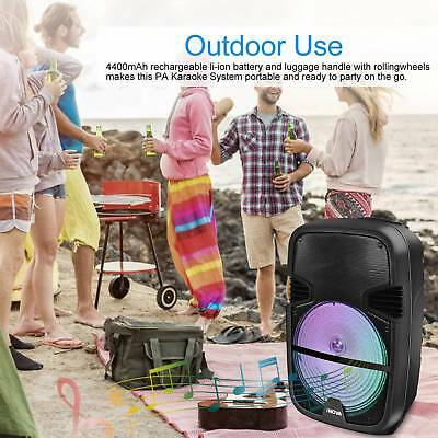 🔥RC Portable BT Bluetooth Speaker 360° Stereo Tailgate Loud Party Karaoke +MIC Party Portable Bluetooth