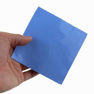 Blue 100x100mm x 0.5mm GPU CPU Heatsink Cooling Thermal Conductive Silicone Pad