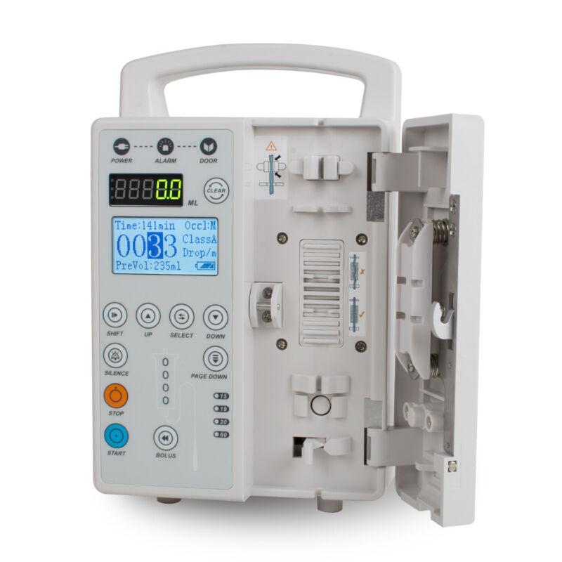 VET Medical Syringe Pump IV Fluid Infusion Audible Squirt Pump +Alarm Veterinary
