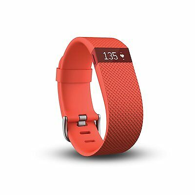 Fitbit Charge HR Wireless Activity Wristband Tangerine, Large  FB405TAL