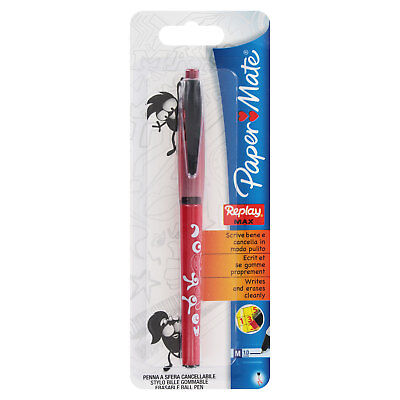 Papermate Replay Max Erasable Ball Point Pen Medium Point Red Ink