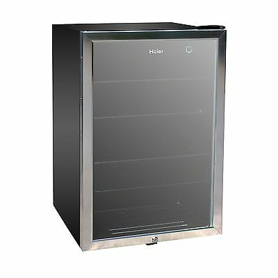 New Haier 150 Can Beverage Mini Fridge Refridgerator Glass Door Cooler