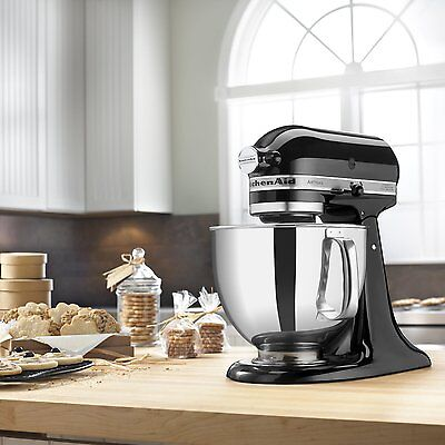 kitchenaid-stand-mixer-tilt-5-quart-rk150ob-onyx-black-artisan-refurb-ksm150psob