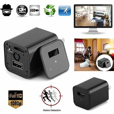 1080P Motion Spy Camera Adapter USB Wall Charger Video Recorder Home Security US