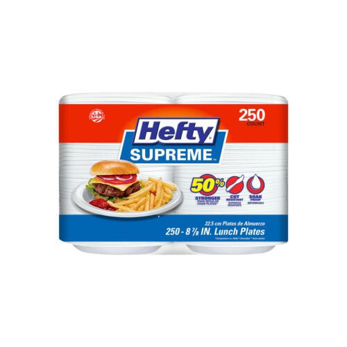 "Hefty Supreme 8 7/8"" Foam Plates, 250 ct. FREE SHIPPING"