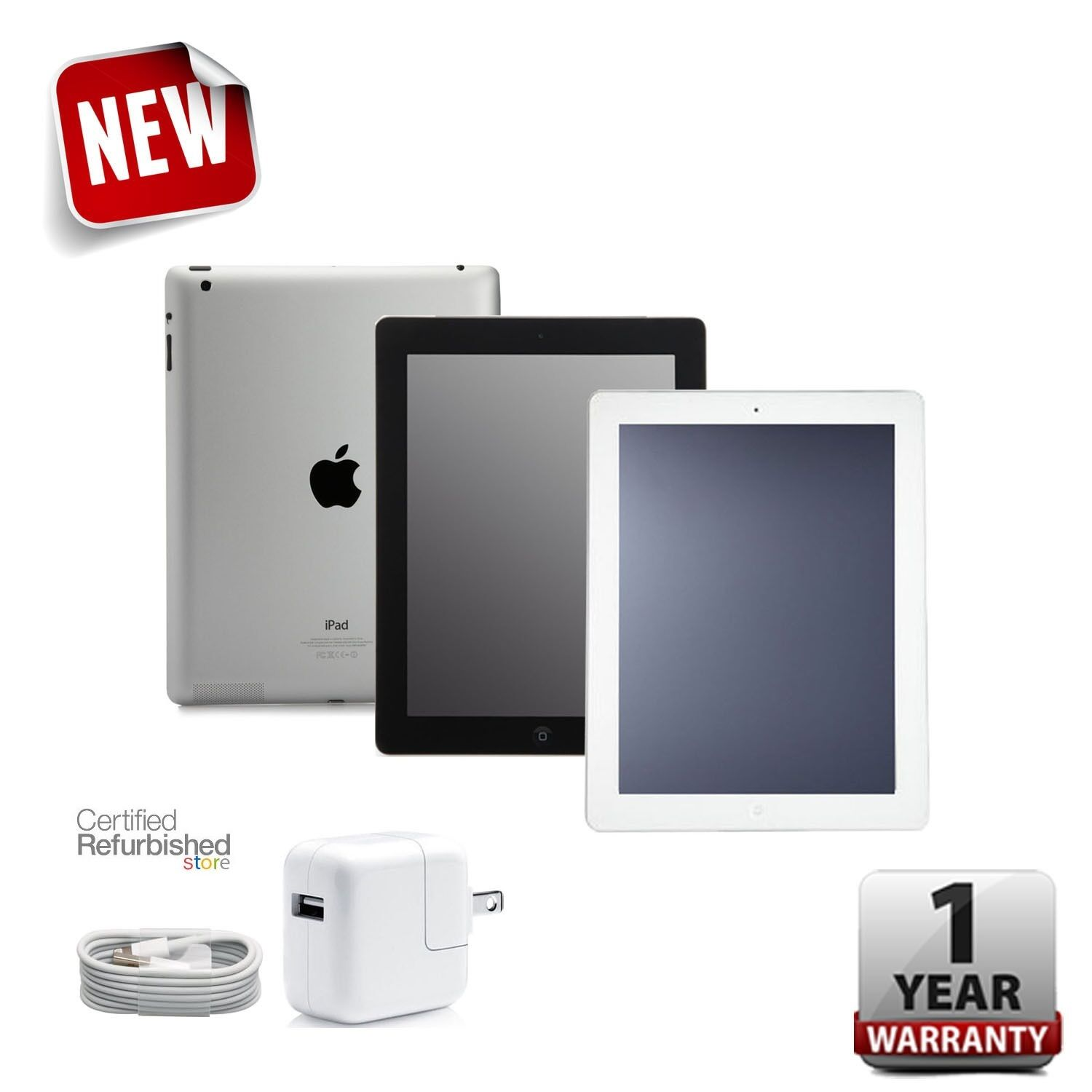FLASH SALE! iPad 2 16GB/32GB/64GB Black/White 9.7in Wi-Fi Tab + 1-Year Warranty