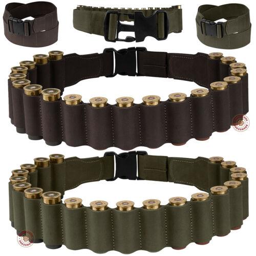 Shotgun Shell Belt Bandolier Pouch 12 ga Leather Cartridge Ammo Holder Bandoleer