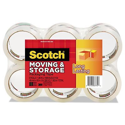 Scotch - Moving Storage Tape 1.88 X 54.6yds 3 Core Clear - 6 Rollspack