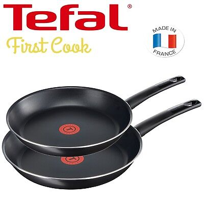 Tefal First Cook 2-teiliges Pfannenset 24 & 28 cm Aluminium Antihaft Beschichtet