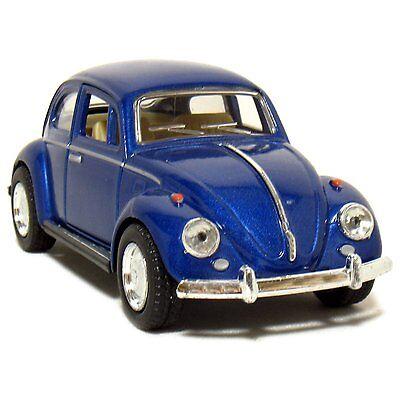"New 5"" Kinsmart 1967 Volkswagen Classical Beetle Diecast Model Toy Car 1:32 Blue"