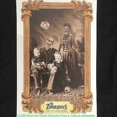 Halloween Family Portraits (Gothic Horror-ZOMBIE FAMILY PORTRAIT CLING-Wall Sticker Halloween)