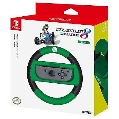 HORI Nintendo Switch Mario Kart 8 Deluxe Wheel Luigi Version BRAND NEW SEALED