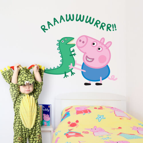Official George Pig with dinosaur wall stickers | Official Peppa Pig decor
