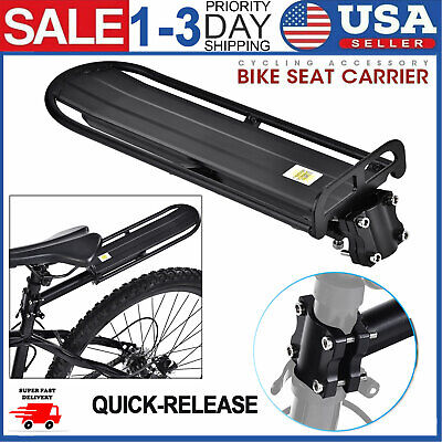 Alloy Bicycle Mountain Bike Rear Rack Seat Post Mount Pannier Luggage Carrier