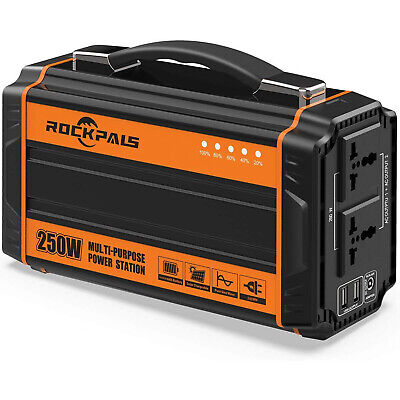 Rockpals 250-Watt Portable Generator Rechargeable Battery Pack Power Supply