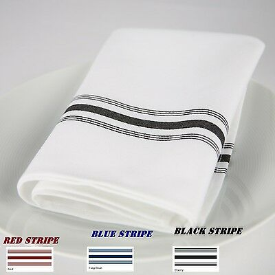 144 bistro stripe restaurant dinner cloth  napkins catering wedding event supply ()