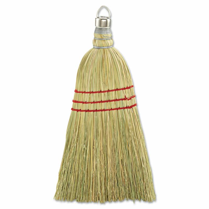 "Boardwalk Whisk Broom Corn Fiber Bristles 10"" Wood Handle Yellow 12/Carton 951WC"