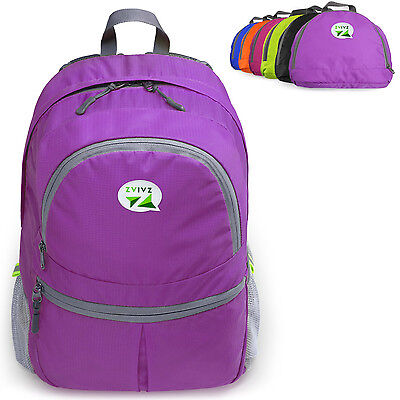 ZaiaZ Foldable Hiking Backpacks Bag Travel Camping Day Purple 25L - ²5