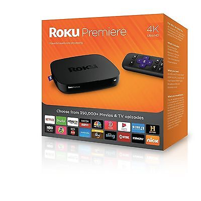 ROKU PREMIER 4K ULTRA HD STREAMING MEDIA PLAYER - BRAND NEW