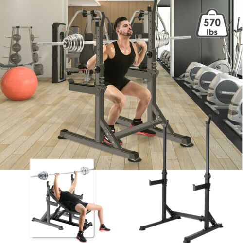 Multi-Function Barbell Rack Adjustable Squat Bench Press Sta
