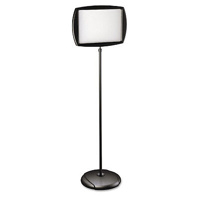 Mastervision Floor Stand Sign Holder Rectangle 15x11 Sign 66h Black Frame