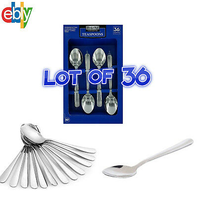 36 Restaurant Quality Windsor Tea Spoons Heavy Duty Stainless Steel Lot Set